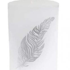 bougie plume blanche