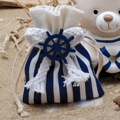 Pochon dragées décoration mer